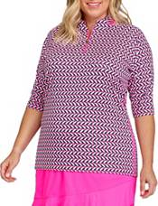 Tail Women's Short Sleeve ¾ Zip Golf Polo product image