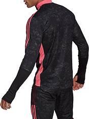 adidas Men's Real Madrid Tiro Black Quarter-Zip Pullover Shirt product image