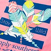 Simply Southern Girls' Feather Long Sleeve T-Shirt product image
