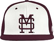 adidas Men's Mississippi State Bulldogs White Fitted Baseball Hat product image