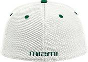 adidas Men's Miami Hurricanes On-Field Baseball White Hat product image