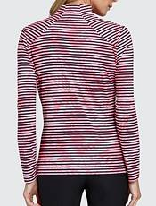 Tail Women's Stylized Striped Mock Neck Golf Top - Extended Sizes product image