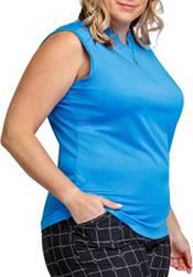 Tail Women's Plus Sleeveless 1/4 Zip Golf Polo product image