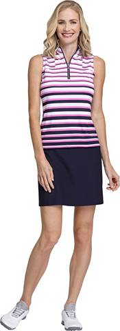 Tail Women's Duo Stripe Sleeveless Golf Polo – Extended Sizes product image