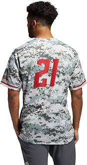 adidas Men's NC State Wolfpack Camo Full Button Replica Baseball Jersey product image