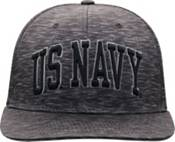 Top of the World Men's Navy Midshipmen Gritty 1Fit Flex Black Hat product image