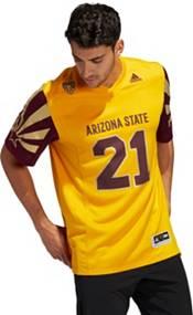 adidas Men's Arizona State Sun Devils #21 Gold 'VALLEY HEAT' Reverse Retro Replica Football Jersey product image