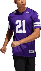 adidas Men's Washington Huskies #21 Purple '91 Throwback' Reverse Retro Replica Football Jersey product image