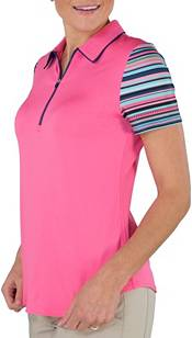 Jofit Women's Tipped Printed Short Sleeve Golf Polo product image