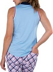 Jofit Women's Cutaway Rib Mock Sleeveless Golf Polo product image