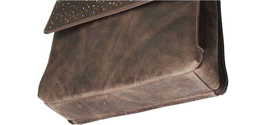 2d2eb7a2110d Gun Tote'n Mamas Distressed Buffalo Leather Concealed Carry Handbag