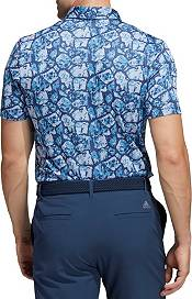 adidas Men's Cobblestone-Print Recycled Content Golf Polo product image