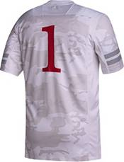 adidas Men's Nebraska Cornhuskers #1 White 'Huskers United' Reverse Retro Replica Football Jersey product image