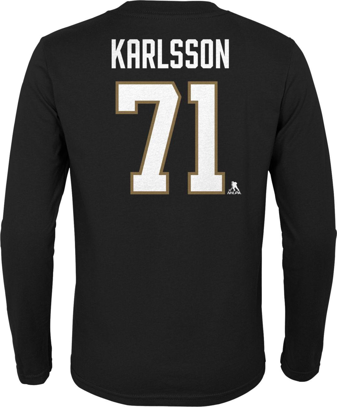 sale retailer 37687 2ec1c NHL Youth Vegas Golden Knights William Karlsson #71 Black Long Sleeve  Player Shirt