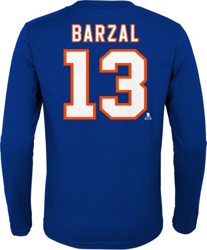 nice shoes hot product on feet at NHL Youth New York Islanders Matthew Barzal #13 Royal Long Sleeve ...