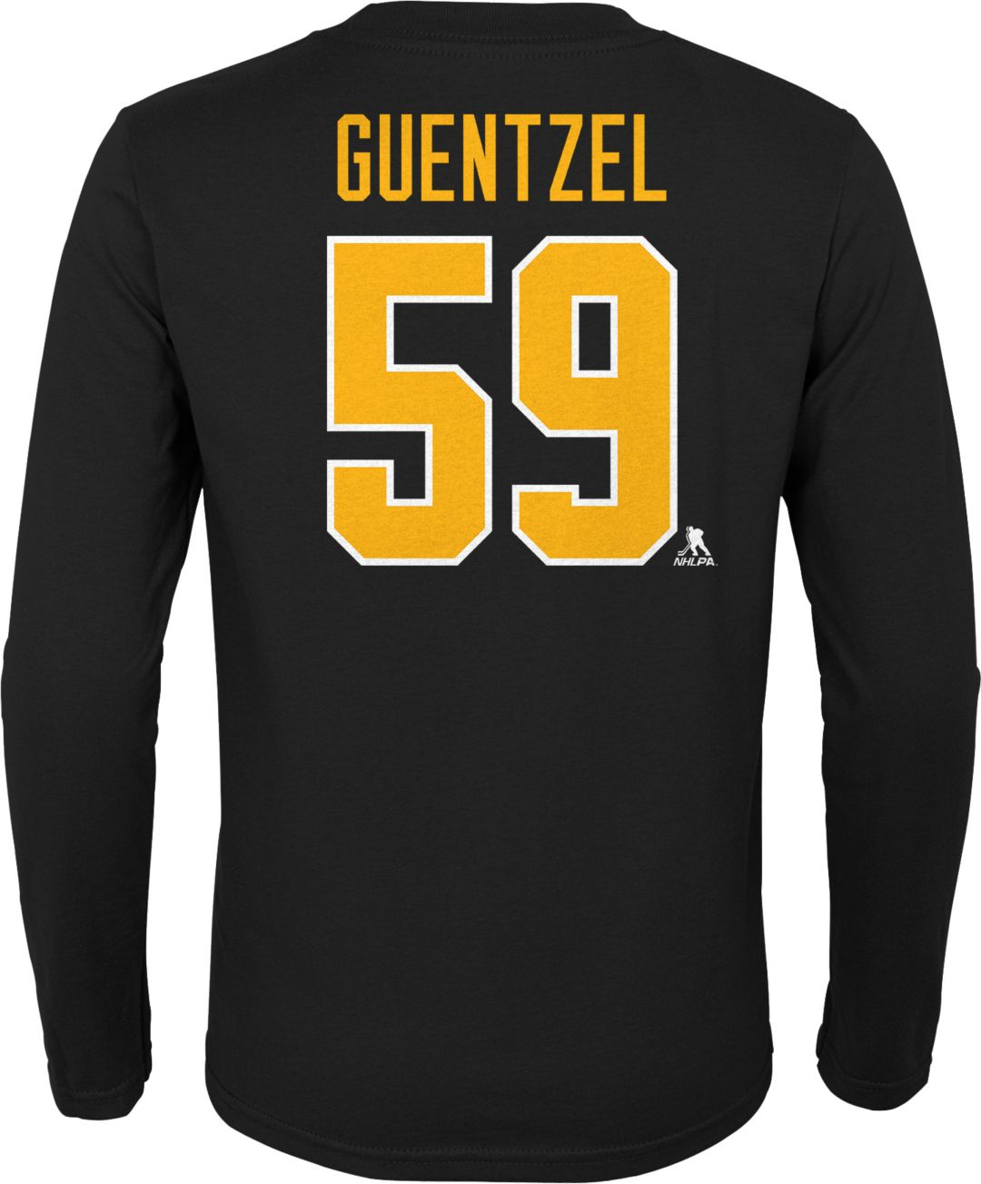 new concept db3b9 4ebe0 NHL Youth Pittsburgh Penguins Jake Guentzel #59 Black Long Sleeve Player  Shirt