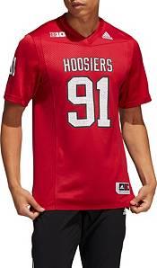 adidas Men's Indiana Hoosiers #91 Crimson 'For Coach Bill Mallory' Reverse Retro Replica Football Jersey product image