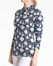 Sport Haley Women's Poppy Long Sleeve Print Mock Neck Golf Shirt product image