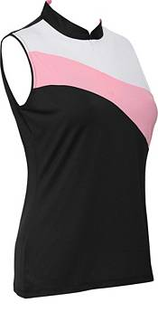 Sport Haley Women's Chara Color Blocked Sleeveless Golf Polo product image