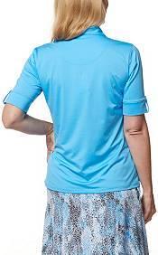 Sport Haley Women's Blu Elbow Sleeve Golf Polo product image