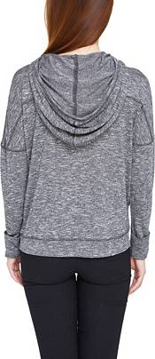 Concepts Sport Women's Carolina Hurricanes Marble Heather Grey Hooded Long Sleeve Shirt product image