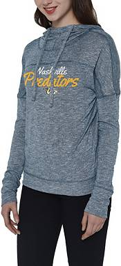 Concepts Sport Women's Nashville Predators Marble Navy Heathered Pullover Hoodie product image