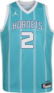 Jordan Youth Charlotte Hornets LaMelo Ball #3 Teal Dri-FIT Swingman Jersey product image