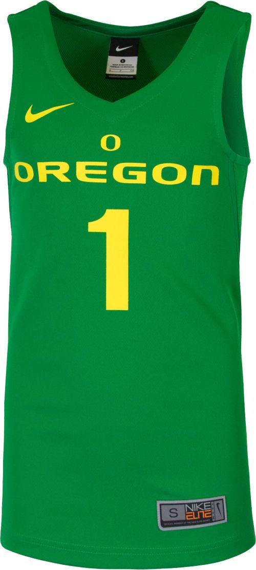 612b6f0c2ce5 Nike Youth Oregon Ducks  1 Green Replica ELITE Basketball Jersey ...