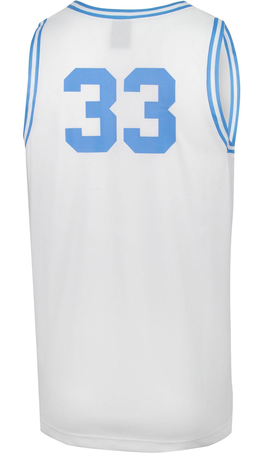 5c62676b2a12 Jordan Men s North Carolina Tar Heels  33 Retro Replica Basketball White  Jersey 3