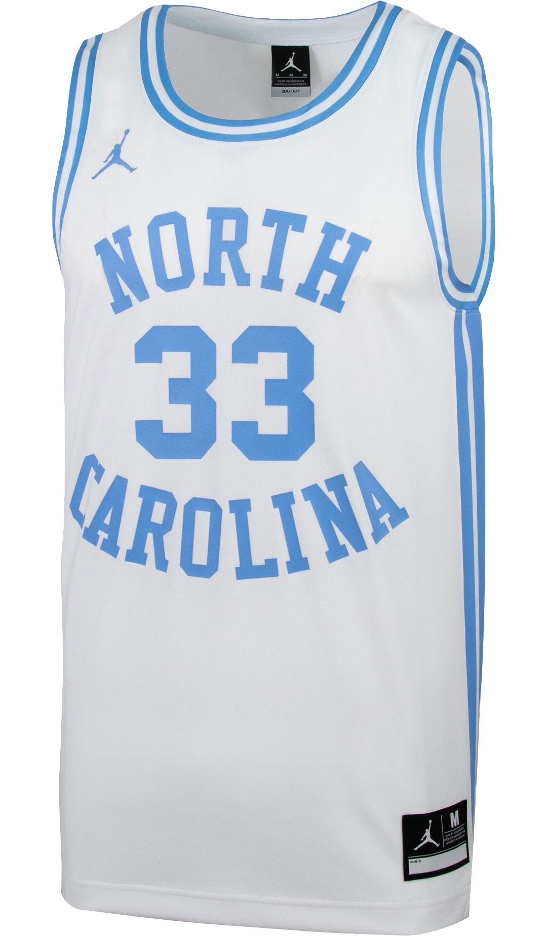 huge discount c3ecb dfe6d Jordan Men s North Carolina Tar Heels  33 Retro Replica Basketball ...