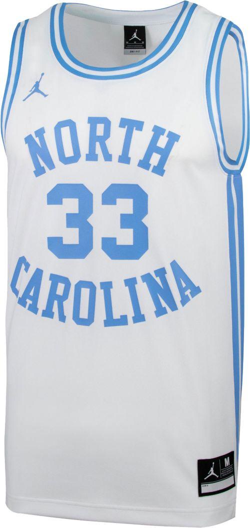 quality design 82d14 ea0dd Jordan Men s North Carolina Tar Heels  33 Retro Replica Basketball White  Jersey