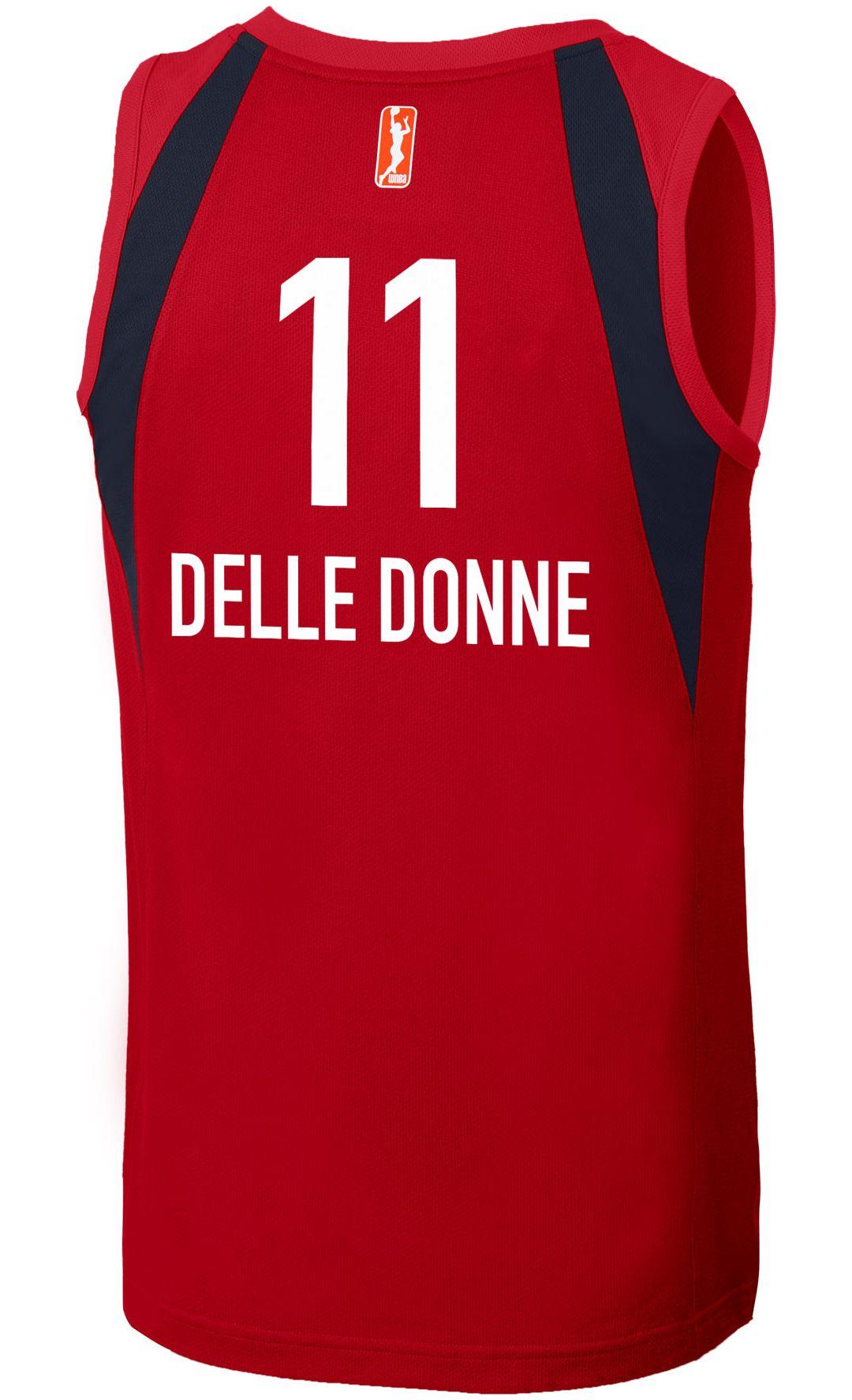save off f04f8 1a05d Nike Adult Washington Mystics Elena Delle Donne Dri-FIT Replica Jersey