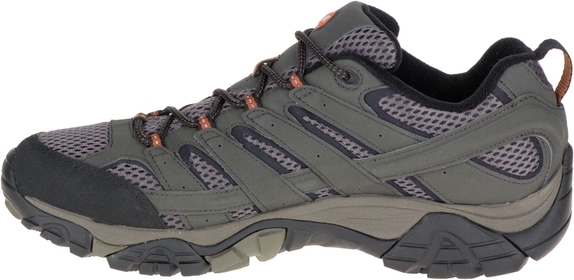 merrell mens moab 2 mid gtx hiking shoe - beluga ve