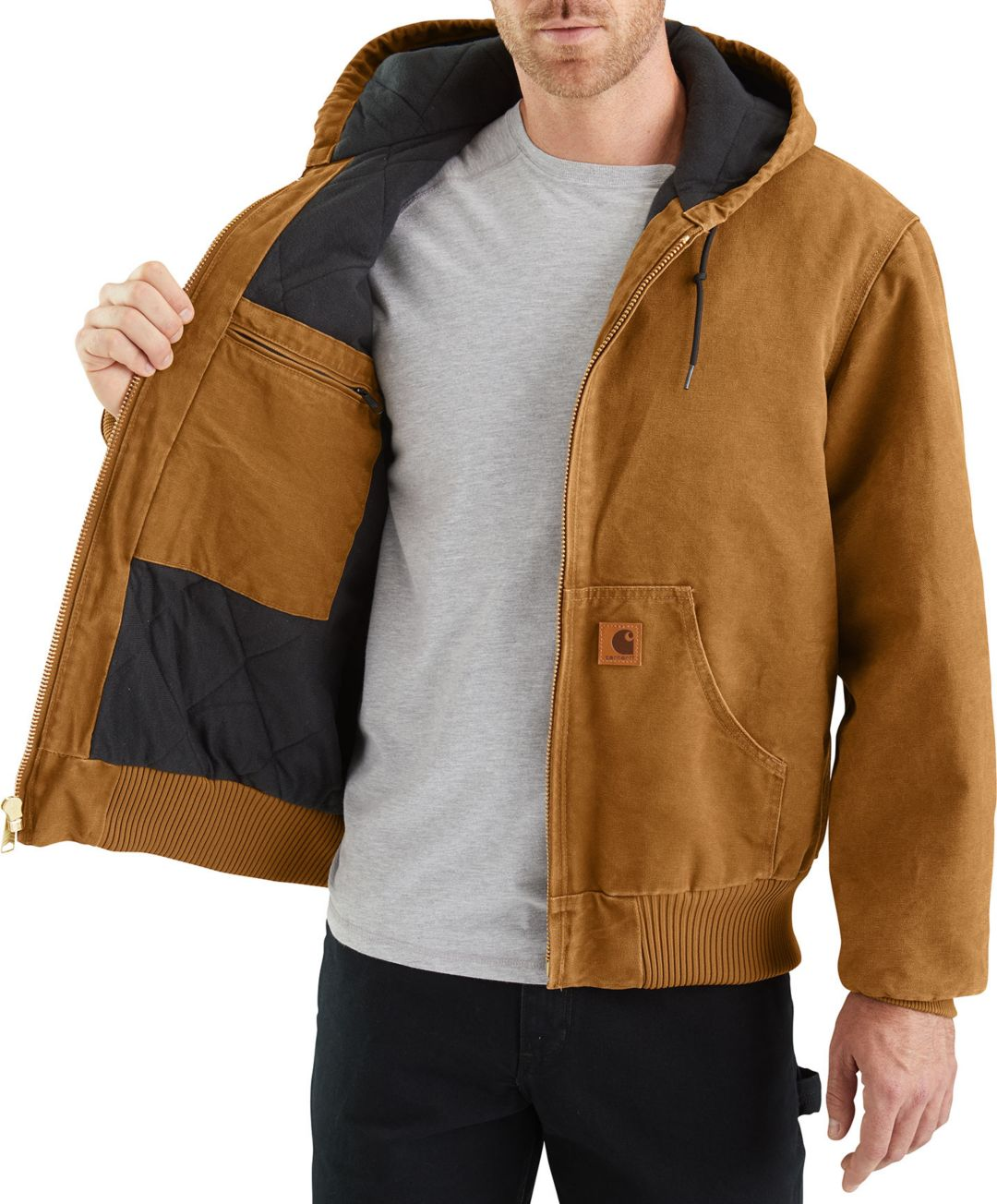 611d5ed1a5589 Carhartt Men's Sandstone Active Lined Jacket | DICK'S Sporting Goods
