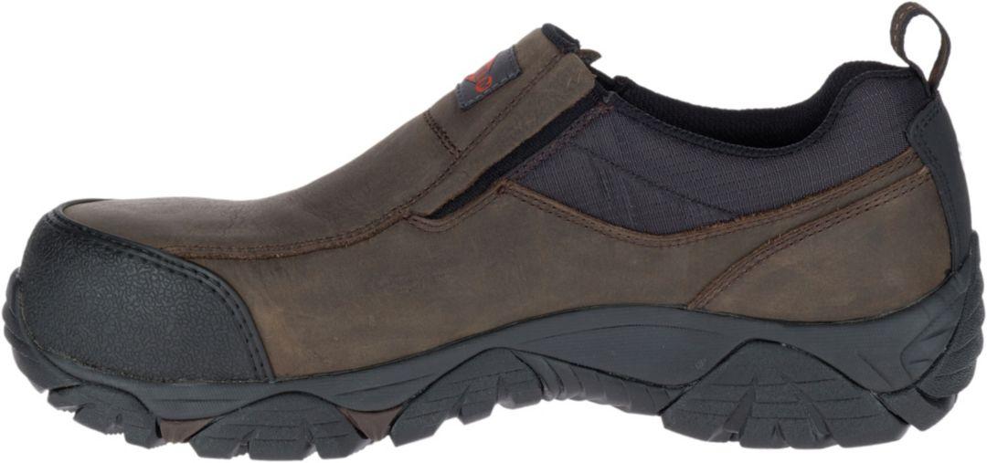 cf4691795bb Merrell Men's Moab Rover Moc Waterproof Composite Toe Work Shoes