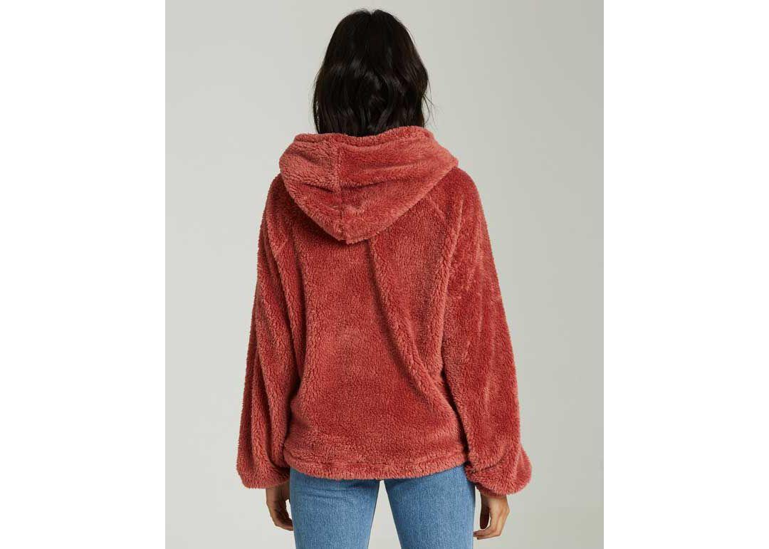 sale retailer 69d70 df3c3 Billabong Women's Warm Regards Sherpa Pullover Hoodie