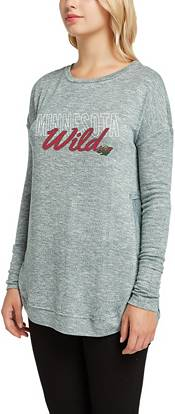 Concepts Sport Women's Minnesota Wild Marble Green Heathered Long Sleeve Shirt product image