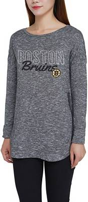 Concepts Sport Women's Boston Bruins Marble Heather Grey Long Sleeve T-Shirt product image