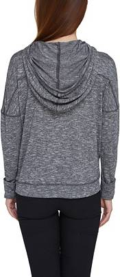 Concepts Sport Women's Pittsburgh Penguins Marble Heather Grey Hooded Long Sleeve Shirt product image