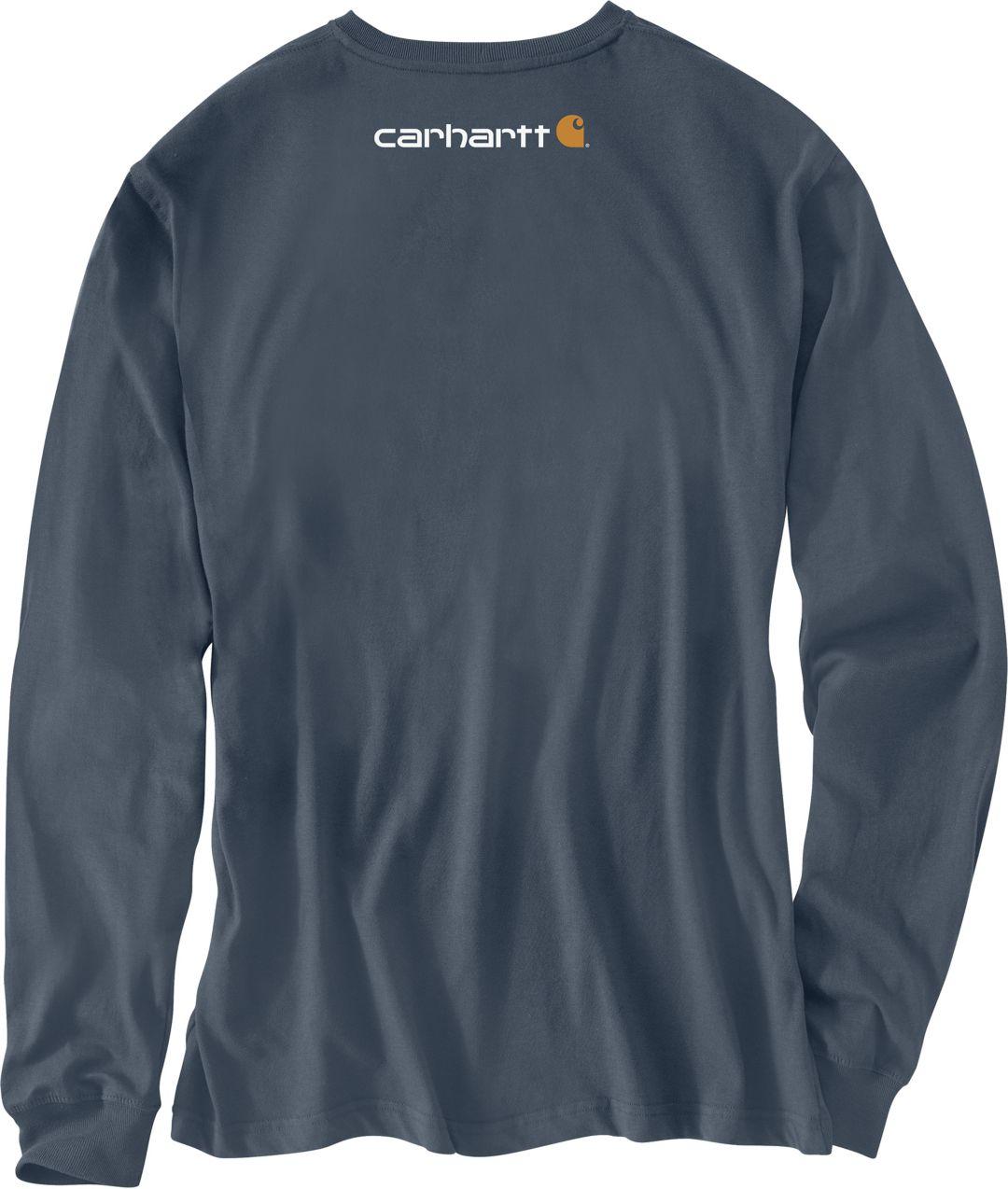 a09d9af177b4 Carhartt Men's Signature Logo Long Sleeve Shirt | DICK'S Sporting Goods