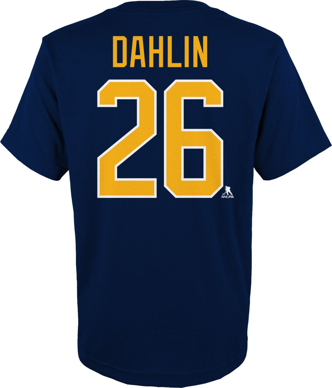 new product daa54 2b205 NHL Youth Buffalo Sabres Rasmus Dahlin #26 Navy Player T-Shirt