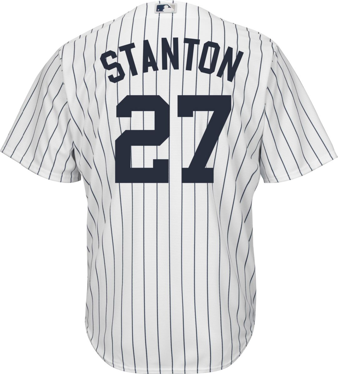 big sale 629ed ef420 Youth Replica New York Yankees Giancarlo Stanton #27 Home White Jersey