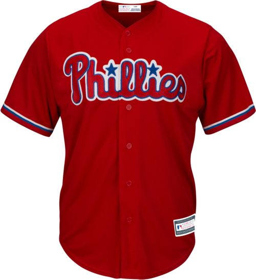 479d9c42ba8 Youth Replica Philadelphia Phillies Rhys Hoskins #17 Alternate Red Jersey