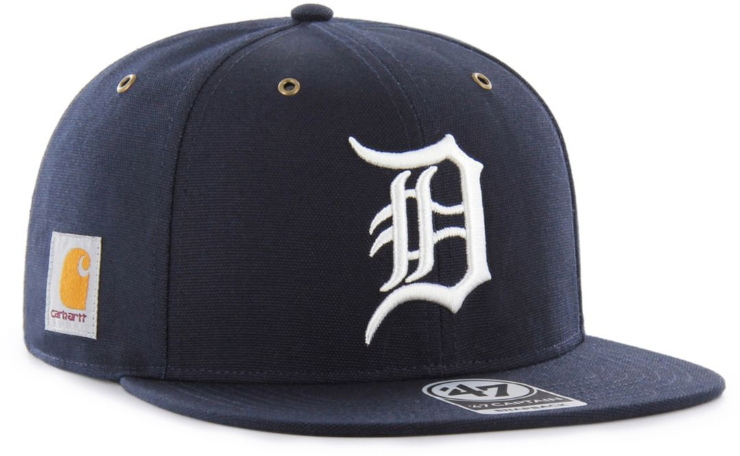 af36ed68 '47 Men's Detroit Tigers Carhartt Captain Navy Adjustable Snapback Hat