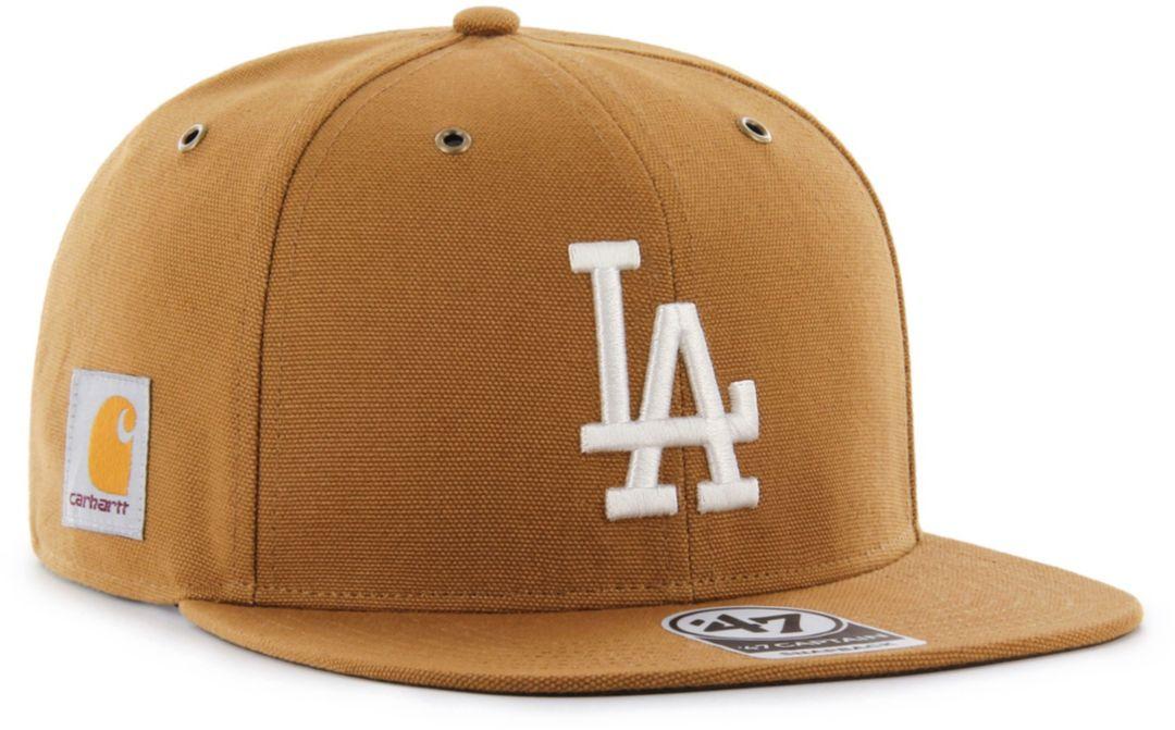 77c1703a '47 Men's Los Angeles Dodgers Carhartt Captain Brown Adjustable Snapback Hat