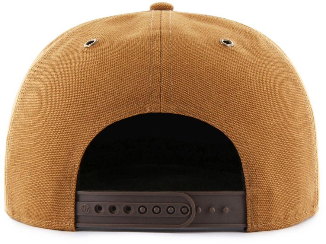 92174da4 '47 Men's San Francisco Giants Carhartt Captain Brown Adjustable Snapback  Hat