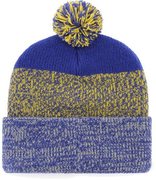 4b54b44eacc ... cheap 47 mens golden state warriors static royal knit hat c29a0 f4703