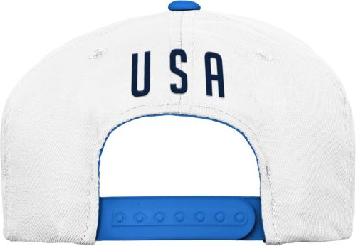 a32d63db9e7 Outerstuff Youth USA Soccer Hook Flag White Snapback Adjustable Hat ...