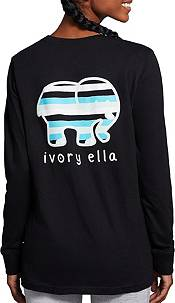 Ivory Ella Women's Stripe Long Sleeve T-Shirt product image
