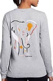 Ivory Ella Women's Elephant Shapes Long Sleeve T-Shirt product image